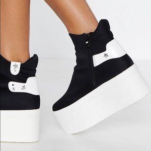 Nasty Gal Star-t Over Platform Sneaker